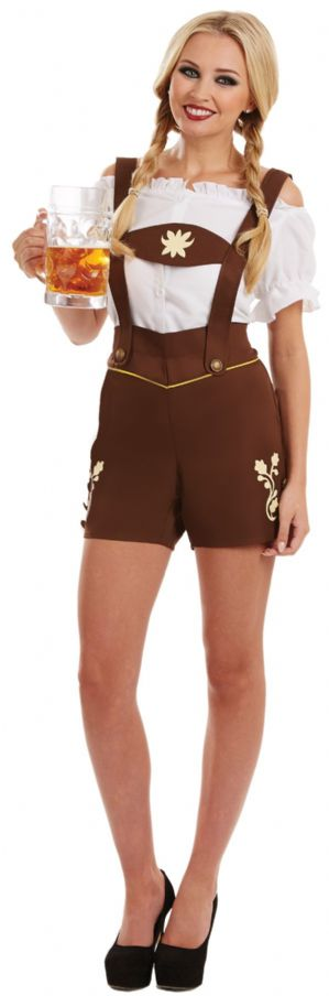 Bavarian Lady Plus size fancy dress Lederhosen Costume (4055)